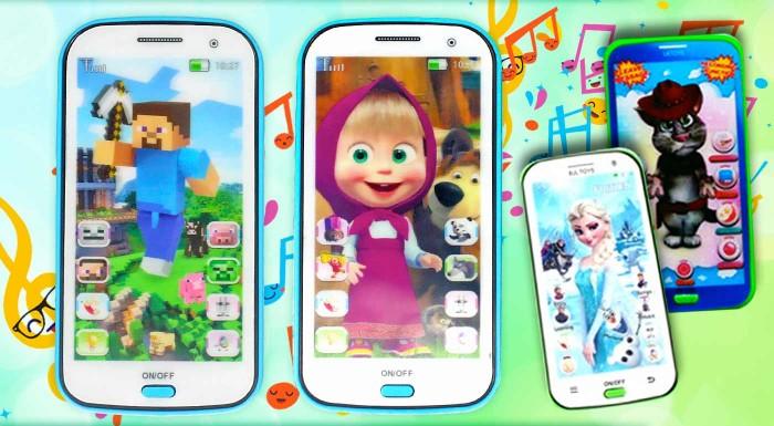 Fotka zľavy: Detské mobilné telefóny Talking Tom, Frozen, Máša a medveď alebo Minecraft naučia vaše deti angličtinu hravou formou bez bifľovania. Ponúkajú pesničky, rozprávky i uspávanky v anglickom jazyku.