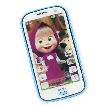 Detský mobilný telefón na výučbu angličtiny Máša a medveď