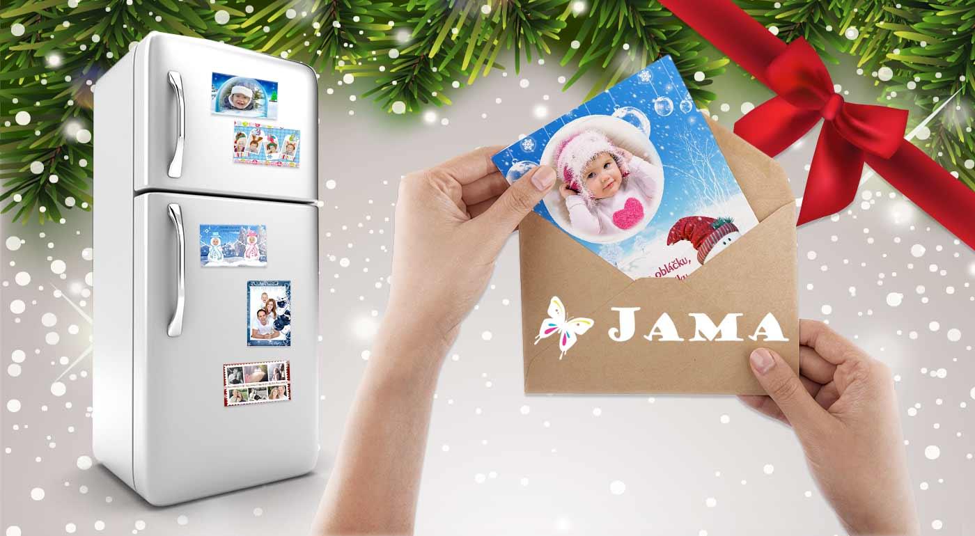 Zľava  Vianočné magnetky, pozdravy alebo pohľadnice