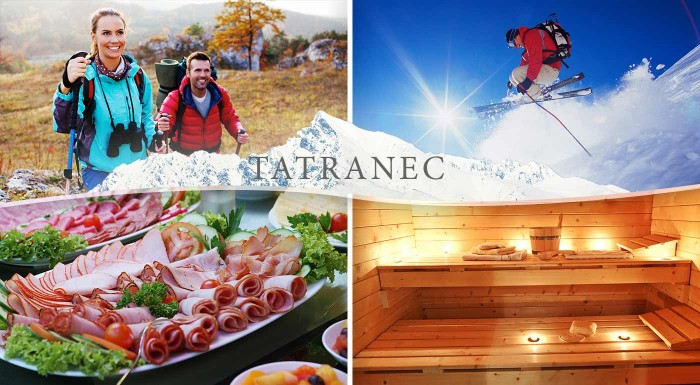 Fotka zľavy: Tatry stoja za to či je jeseň, zima alebo jar. Vychutnajte si ich krásu na pohodovom pobyte v Hoteli Tatranec počas 3, 4 alebo 6 dní s polpenziou a balíčkom zliav do okolitých aquaparkov.