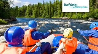 Zľava 57%: Dve hodiny adrenalínu na nezabudnuteľnom raftingu v umelom kanáli víťazov v Liptovskom Mikuláši, pokojný splav Váhu alebo adrenalínový splav divokej rieky Belá.