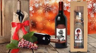 Zľava 41%: Potešte vašich blízkych originálnym darčekom! Víno alebo višňovica s vlastnou fotografiou a prianím aké v žiadnom obchode nezoženiete.