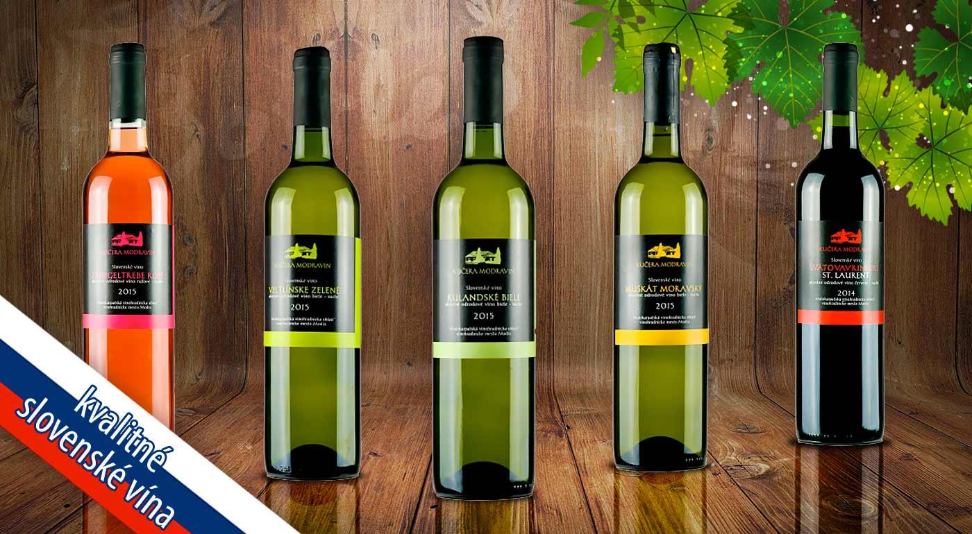Vynikajúce slovenské vína z rodinného vinárstva Modravin od Bottles.sk - v ponuke až 5 obľúbených druhov