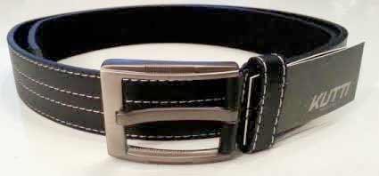 Pánsky kožený opasok s oceľovou prackou - model 10
