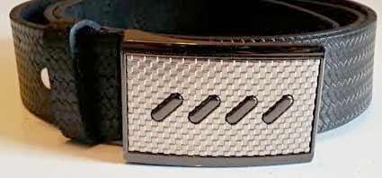 Pánsky kožený opasok s oceľovou prackou - model 4