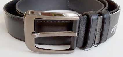 Pánsky kožený opasok s oceľovou prackou - model 7