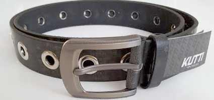 Pánsky kožený opasok s oceľovou prackou - model 8