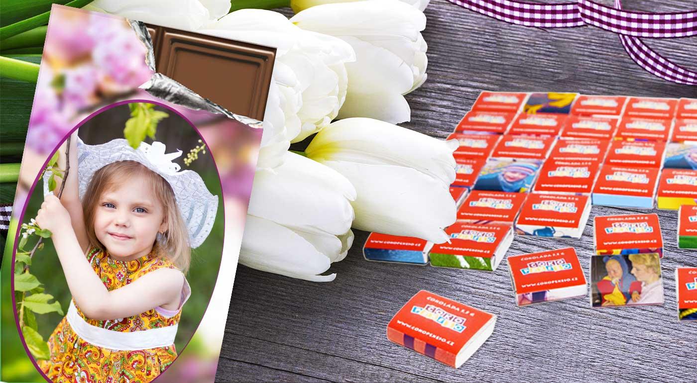 Veselá Veľká noc s 18-dielnym čokopexesom alebo belgickou čokoládou s vlastnou fotografiou