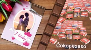 Zľava 52%: Čokoláda a láska - to sú dve veci, ktoré k sebe neoddeliteľne patria. Darujte vašej milovanej polovičke pravú belgickú čokoládu či čokopexeso a vyznajte lásku originálnym spôsobom.