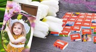 Zľava 52%: Zažite naozaj veselú Veľkú noc! Prekvapte šibačov 18-dielnym čokopexesom alebo výbornou belgickou čokoládou s vlastnou fotografiou!