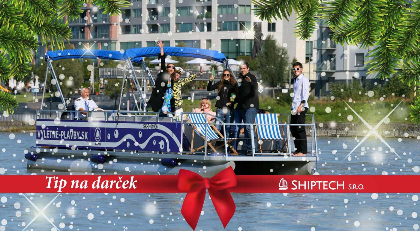 Hodinová plavba výletnou party loďou po Dunaji - super tip na vianočný darček!