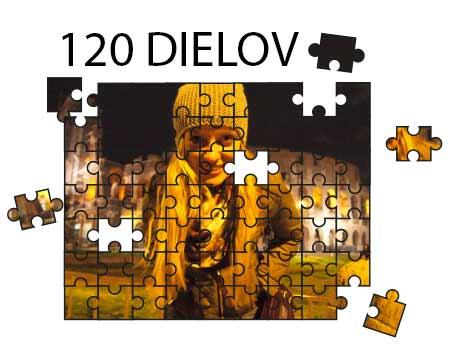 Puzzle vo veľkosti A4 (120 dielov)