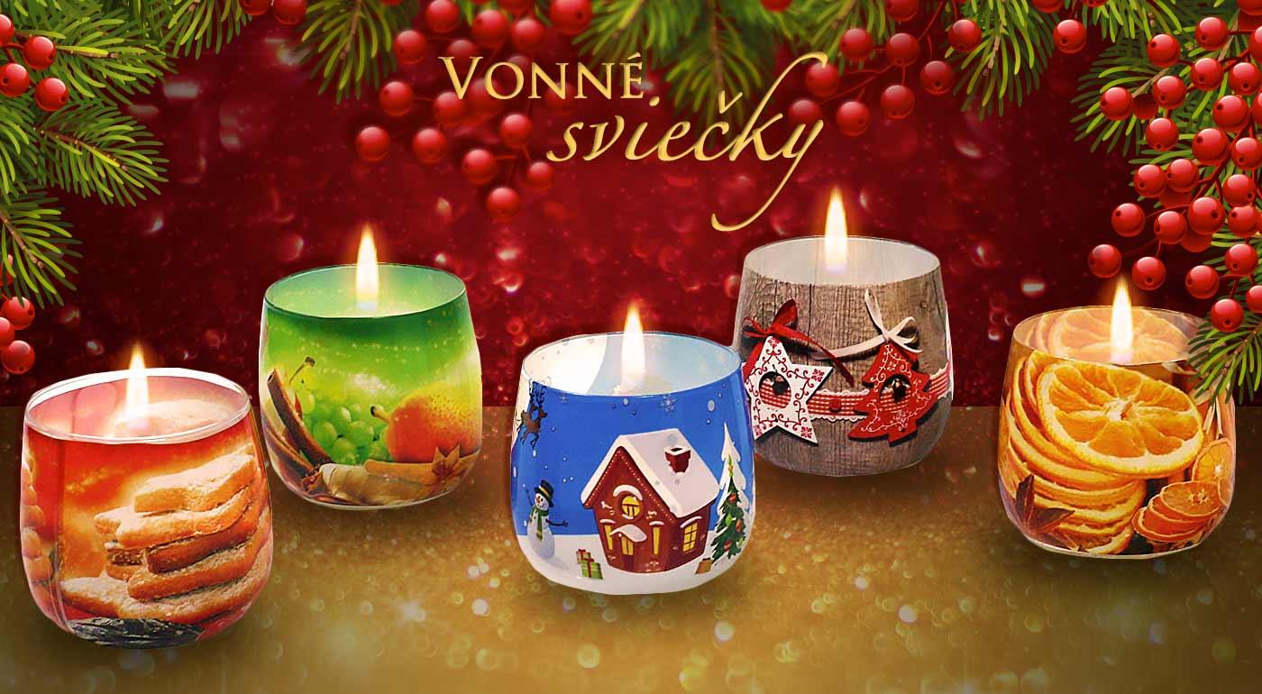 Fotka zľavy: Rozvoňajte si vianočnú domácnosť sviečkami. Vyberte si zo širokej ponuky 5 tých najmilších a nechajte prísť vianočnú atmosféru k vám domov.