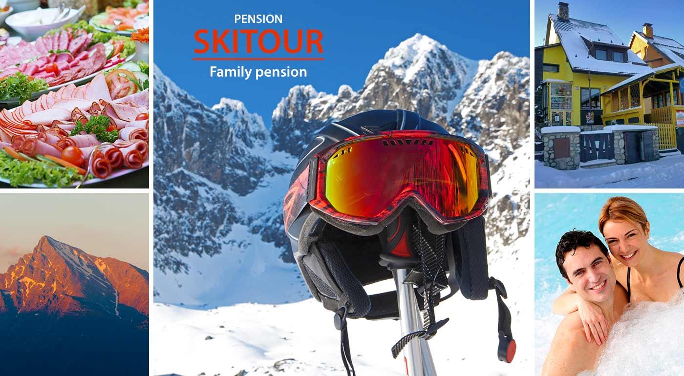 Lyžovačka a kúpanie v Tatrách. Užite si zimu v Penzióne Skitour**+ na 4 alebo 5 dní s raňajkami - vhodné aj ako darček na Vianoce