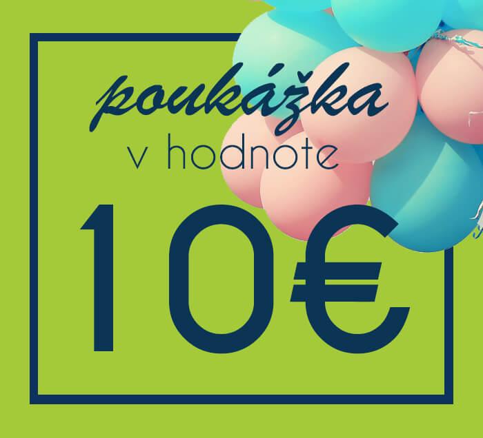 Darčeková poukážka na nákup na ZaMenej.sk v hodnote 10 €