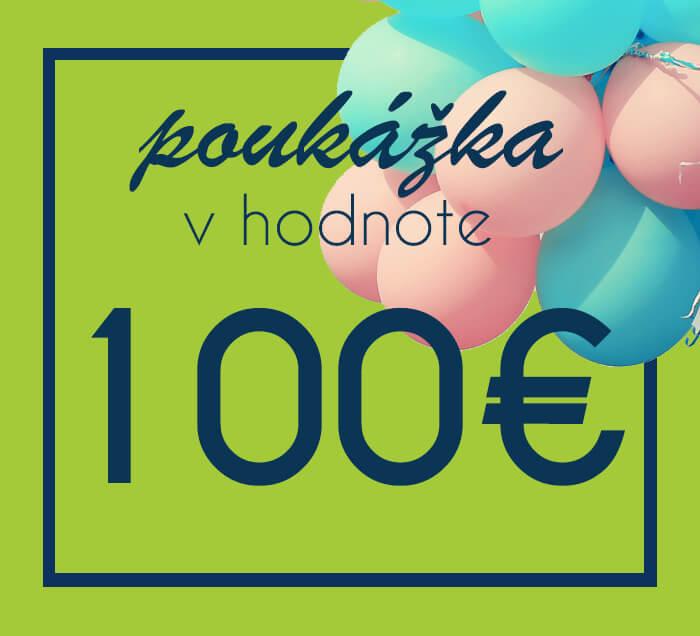 Darčeková poukážka na nákup na ZaMenej.sk v hodnote 100 €