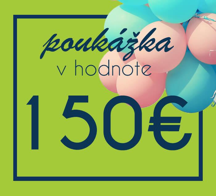 Darčeková poukážka na nákup na ZaMenej.sk v hodnote 150 €