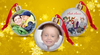 Zľava 35%: Ozdobte si váš stromček alebo domov originálnou vianočnou guľou, v ktorej bude vaša obľúbená fotografia.