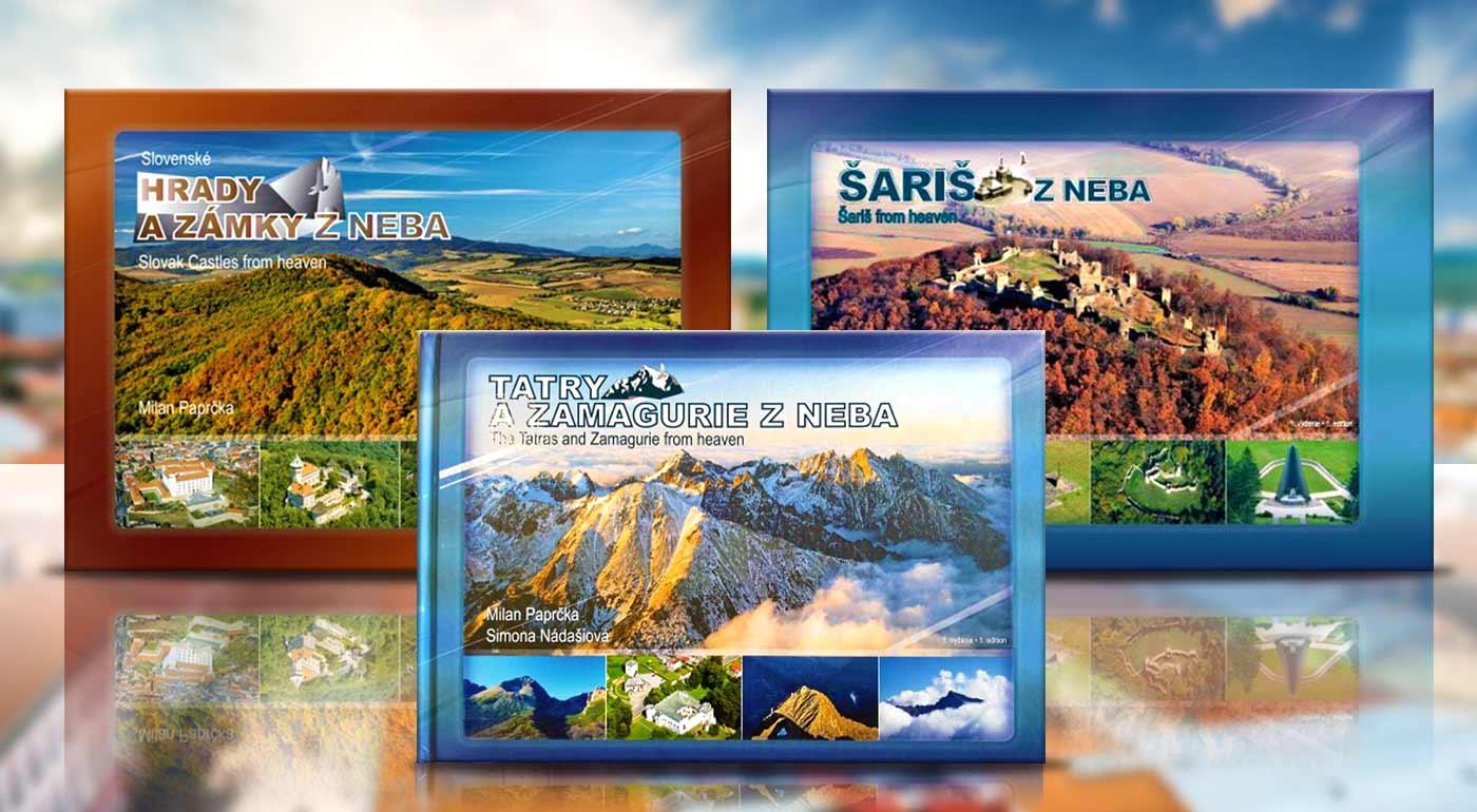 Nádherné knihy plné leteckých fotografií slovenských regiónov, hôr či zámkov! Perfektný tip na darček.