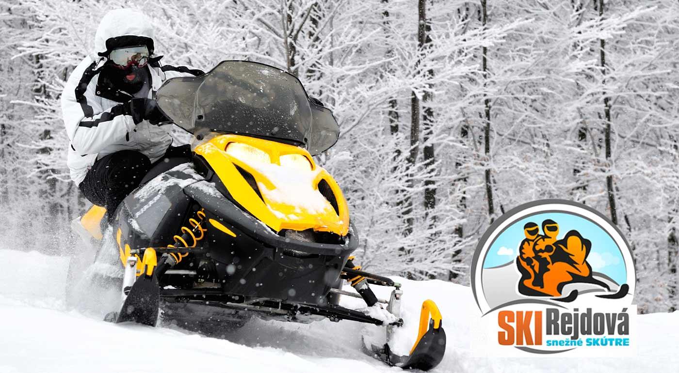 Adrenalínová jazda snežným skútrom v SKI Rejdová v Slovenskom rudohorí