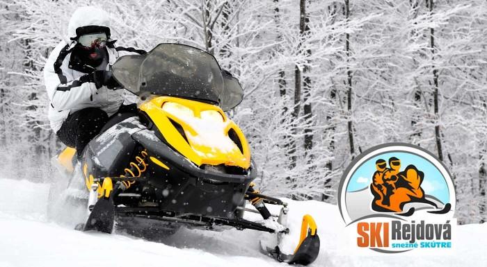 Fotka zľavy: Užite si jazdu rýchlo a zbesilo na snežnom skútri v Ski Rejdová. Zažite ten pravý adrenalín a spoznajte krásy Slovenského rudohoria tak, ako ste ich ešte nikdy nevideli!
