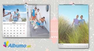 Zľava 54%: Nástenný kalendár s vlastnými fotografiami vo formáte A4, A3 alebo stolový kalendár. Majte všetky najmilšie tváre na očiach i v roku 2017.
