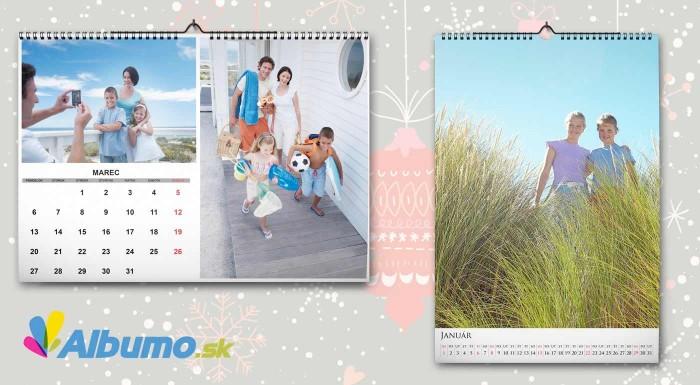 Fotka zľavy: Nástenný kalendár s vlastnými fotografiami vo formáte A4, A3 alebo stolový kalendár. Majte všetky najmilšie tváre na očiach i v roku 2017.