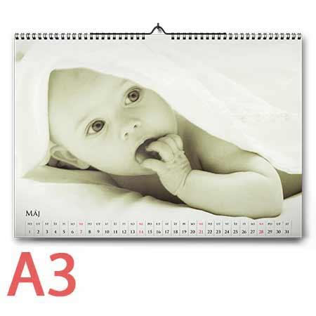 Nástenný fotokalendár mesačný, formát A3 (12 strán + 1 titulná) - orientácia na šírku