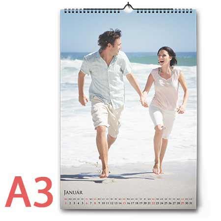 Nástenný fotokalendár mesačný, formát A3 (12 strán + 1 titulná) - orientácia na výšku