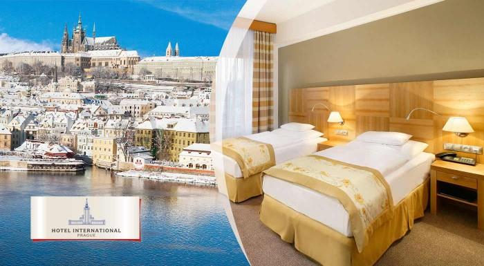 Fotka zľavy: Nechajte sa očariť históriou zimnej Prahy a historickej pamiatky 4* Hotela International Prague len za 89 € pre dvoch s raňajkami.