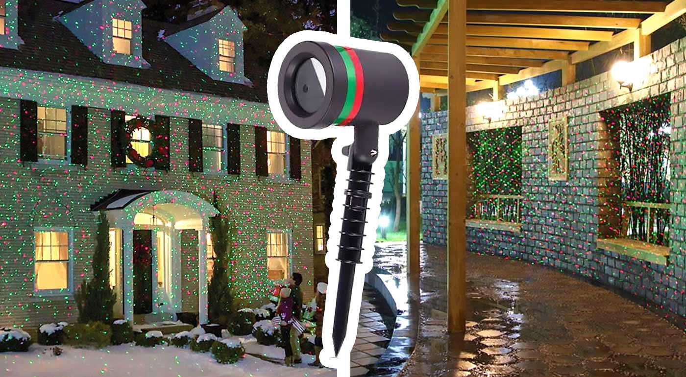 Laserová lampa pre inovatívne vianočné osvetlenie domu - hit Vianoc 2016