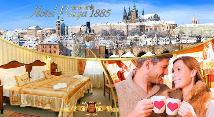 Fotka zľavy: Či už idete do Prahy za zábavou, poznávaním či prácou - nie je nič lepšie ako zakončiť deň v pohodlnej hotelovej izbe. Ubytujte sa v Hoteli Praga 1885**** v historickej budove neďaleko zastávky Anděl.
