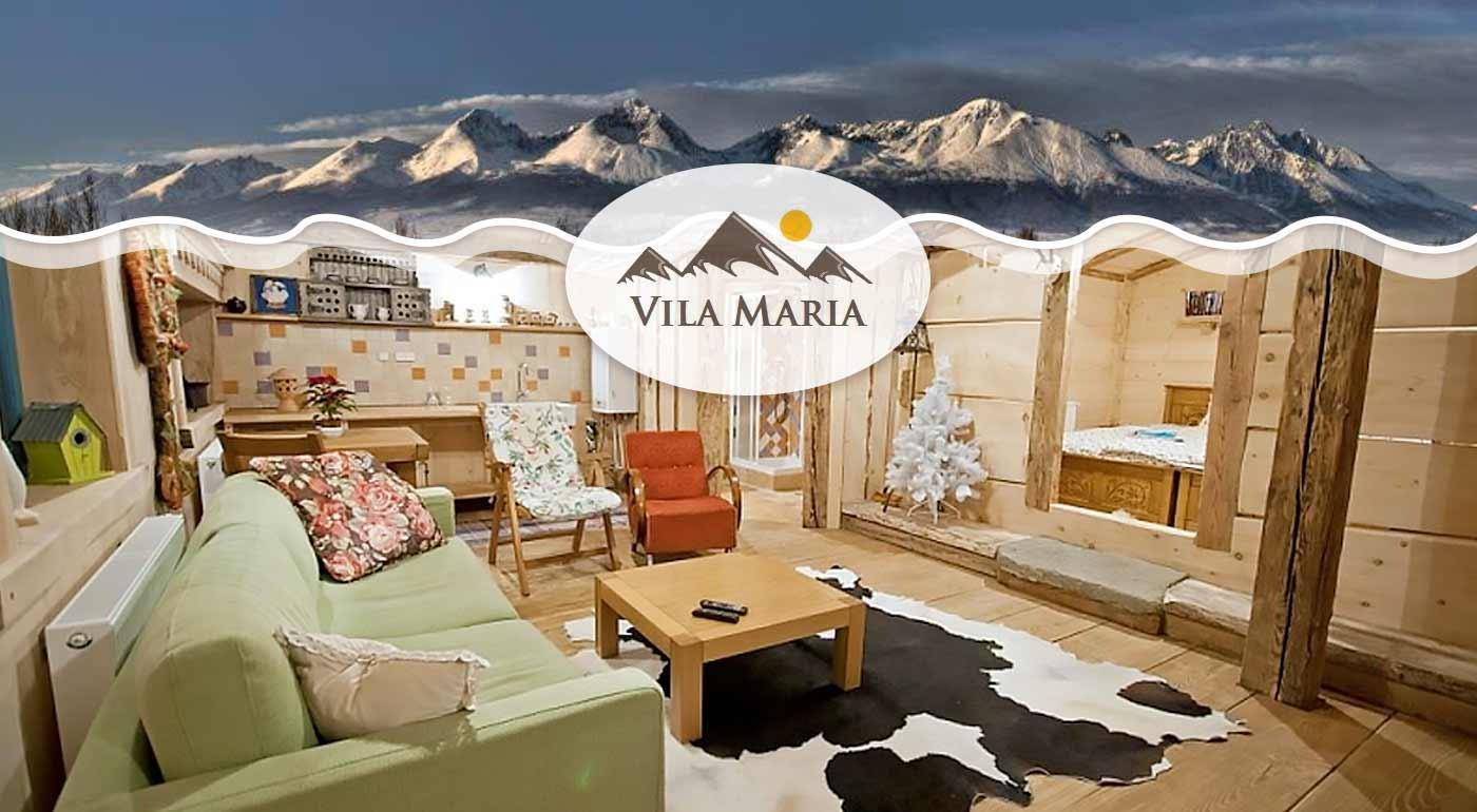 Skvelý pobyt v štýlovej Vile Mária v Belianskych Tatrách s raňajkami a wellness v blízkom hoteli
