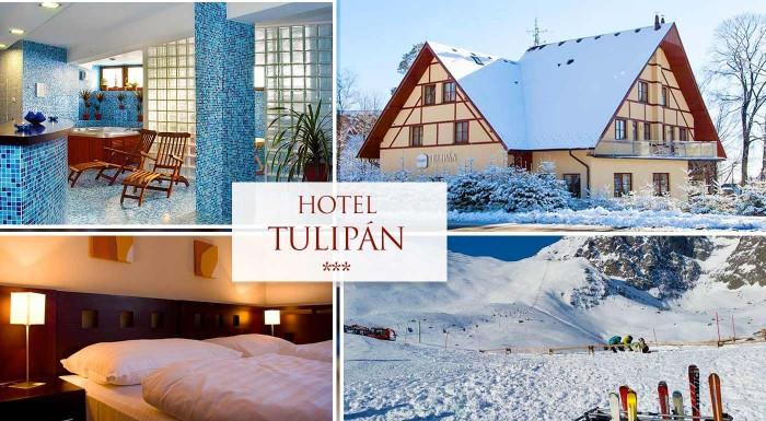 Fotka zľavy: Naplánujte si bezchybnú dovolenku v Tatrách. Prežite nezabudnuteľné dní s celou rodinou v Hoteli Tulipán*** s polpenziou neobmedzeným wellness a ďalšími bonusmi.