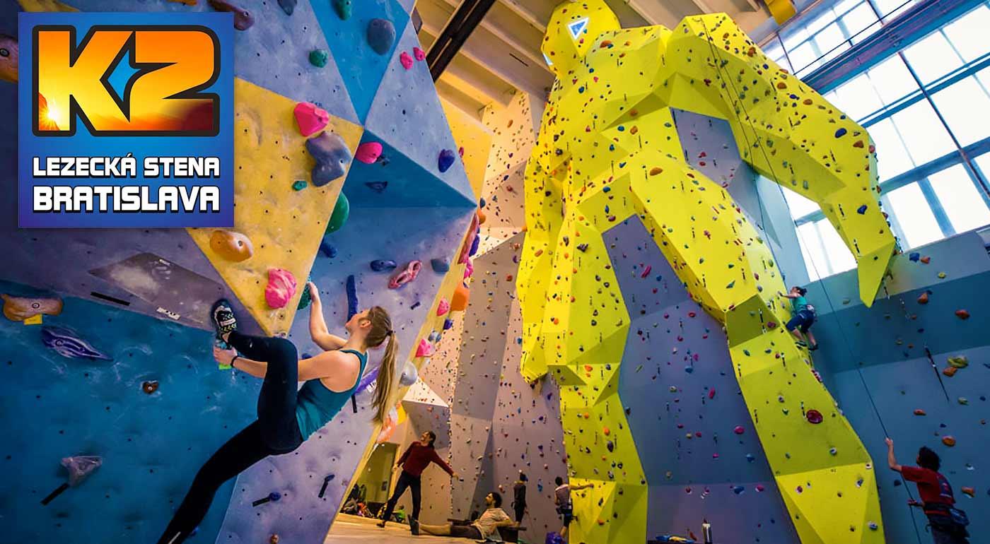 Kurz lezenia a istenia s inštruktorom na najväčšej lezeckej stene v SR - v cene požičanie výstroja i celodenné vstupy