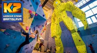 Zľava 26%: Zdolajte najväčšiu lezeckú stenu na Slovensku! Dvojhodinový kurz lezenia pre začiatočníkov i pokročilých s inštruktorom vrátane 1 alebo 3 vstupov na lezeckú stenu a zapožičaním výstroja.