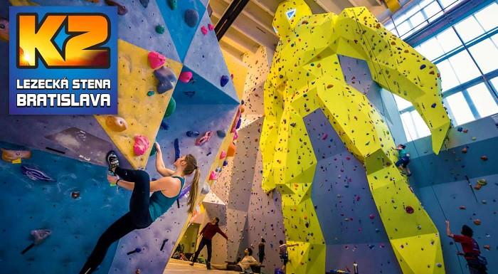 Fotka zľavy: Zdolajte najväčšiu lezeckú stenu na Slovensku! Dvojhodinový kurz lezenia pre začiatočníkov i pokročilých s inštruktorom vrátane 1 alebo 3 vstupov na lezeckú stenu a zapožičaním výstroja.