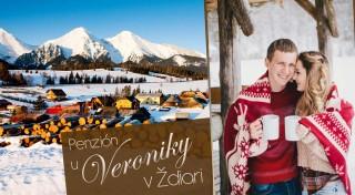 Zľava 37%: Zimná lyžovačka v Penzióne u Veroniky v Ždiari v Belianskych Tatrách s polpenziou a balíčkom zliav do Aquaparkov a okolitých stredísk. Užite si chvíle s rodinou v príjemnom prostredí.