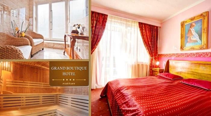Fotka zľavy: Urobte si výlet do Piešťan a ubytujte sa v elegantnom Grand Boutique Hoteli Sergijo****. Počas jedinej čarovnej noci si užijete pohodlie a luxus, výbornú večeru a romantické chvíle vo dvojici.