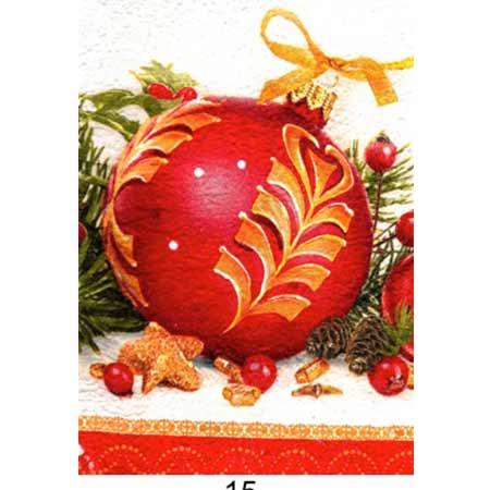 Ručne vyrábaný vianočný pozdrav od zdravotne postihnutých detí  - motív 13