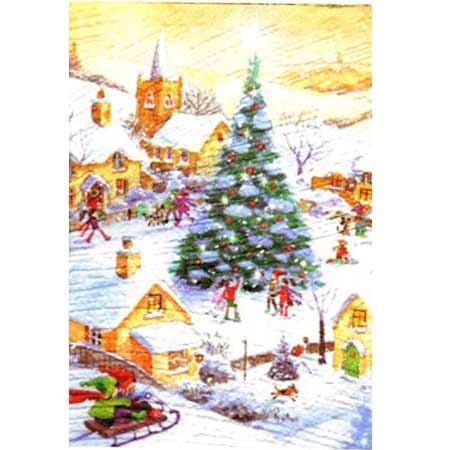 Ručne vyrábaný vianočný pozdrav od zdravotne postihnutých detí  - motív 16