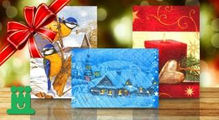 Zľava 0%: Podporme spolu dobrú vec - vianočné a novoročné pozdravy len za 1,20 €. Ručne vyrábané pozdravy od zdravotne tažko postihnutých detí. Za každé 3 nákupy pridáme jeden aj my!
