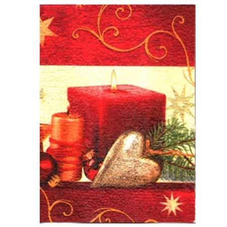 Ručne vyrábaný vianočný pozdrav od zdravotne postihnutých detí  - motív 5