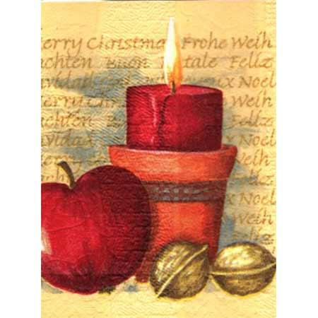 Ručne vyrábaný vianočný pozdrav od zdravotne postihnutých detí  - motív 7