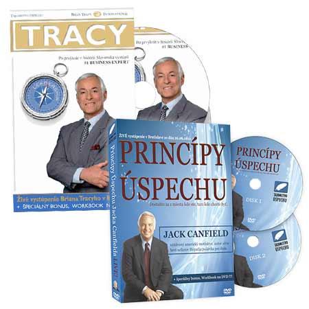 DVD Jack Canfield – Pravidlá úspechu + DVD Brian Tracy – Umenie výnimočného vodcu (balíček dvoch videoseminárov na 4 diskoch)