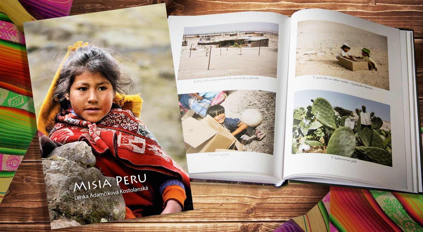 Pútavý cestopis Misia Peru od Lenky Adamčíkovej Kostolanskej. Prvých 10 zákazníkov získa pohľadnicu ako darček!