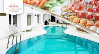 Zľava 50%: Relax počas chladných dní v Bástya Wellness Hotel***/**** pri unikátnych jaskynných kúpeľoch v Miskolctapolca s polpenziou, voľným vstupom do wellness a infra liečbou. Dieťa do 3 rokov zadarmo.