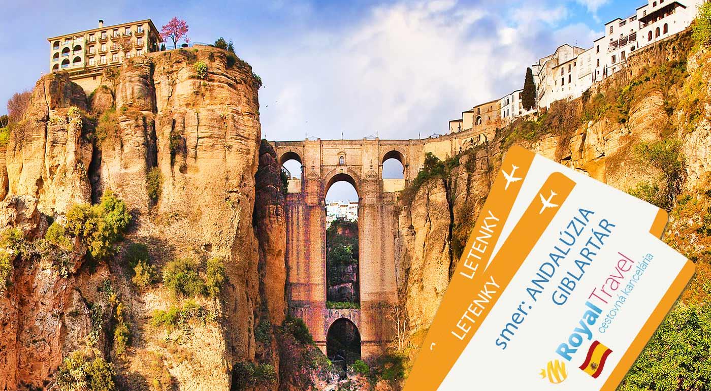 4-dňový letecký zájazd do slnečnej Andalúzie a Gibraltáru