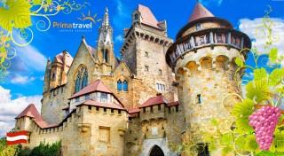 Zľava 41%: Skvelý deň plný zážitkov v Dolnom Rakúsku - návšteva romantického zámku Kreuzenstein a vinárskej dedinky Poysdorf  s možnosťou jazdy po viniciach na traktore či ochutnávky vín!