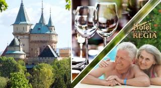 Zľava 63%: Užite si wellness v Hoteli Regia *** v Bojniciach. Skvelý relaxačný pobyt pre seniorov s masážami, kúpeľmi a polpenziou len na skok od rozprávkového hradu či ZOO.